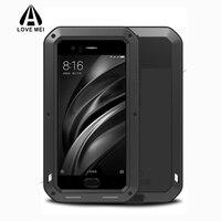 Original For Xiaomi Mi6 Mi 6 Phone Case Aluminum Frame Metal Water Shock Proof Cover For