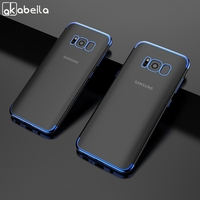 Funda de silicona chapada para Samsung Galaxy S8, A51, A71, Note 20, Ultra, A50, S10 Lite, S20, S9 Plus, S7 Edge, S10e, 10