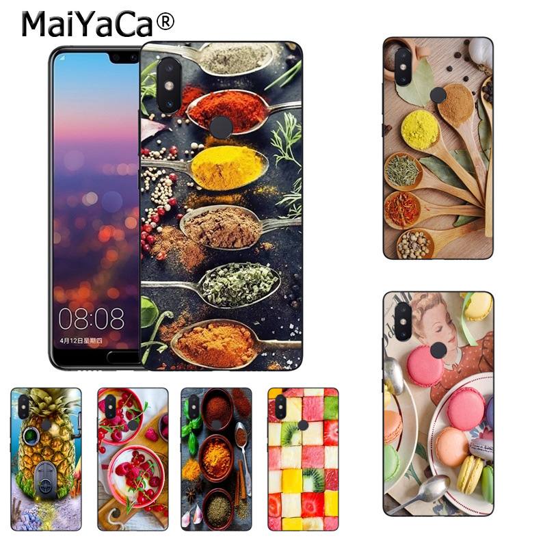 MaiYaCa color spices on wooden spoons cooking sweet fruit Phone Case for xiaomi mi 8 se 6 note3 mix2 redmi 5plus note 5 case