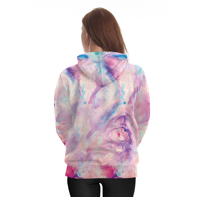 Harajuku Unicorn Skull Hoodie 3d Print Sweatshirt Women Punk Clothing 1