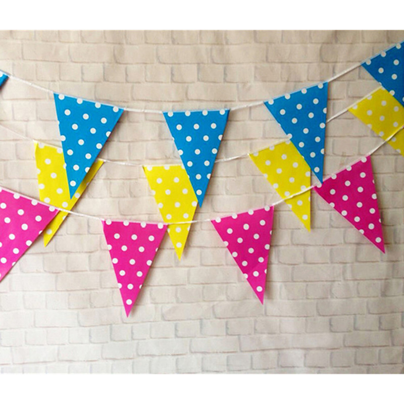 polka dot party flags - photo #4