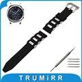 22mm caucho de silicona watch band para samsung gear s3 clásico/frontier acero inoxidable pre-v cierre correa de muñeca pulsera de la correa