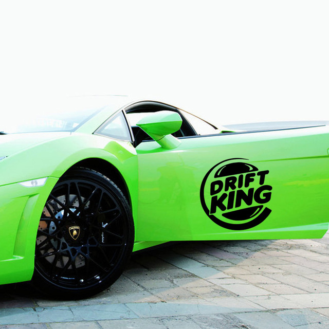 2017 hot sale 2x drift king vinyl decal funny sticker car stying personalized car door decals