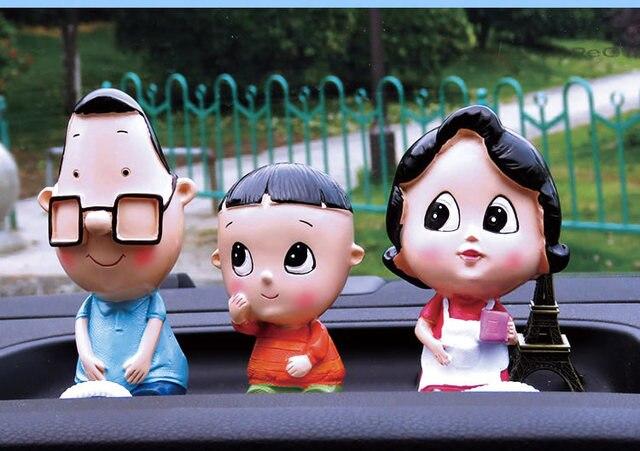 Piccola famiglia di tre famiglia Diaojia bambole scaffale ...