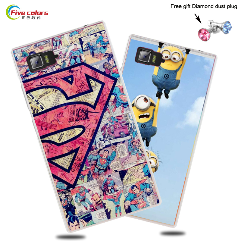 Lenovo Vibe Z2 case for Lenovo Vibe Z2 5.5 inch phone case transparent side colored fashion painting pattern case cover in stock