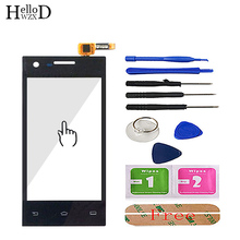"""4.0"""" Mobile Phone Touch Glass TouchScreen For Philips S309 S 309 Touch Screen Digitizer Sensor Glass Lens Panel 3M Glue"""
