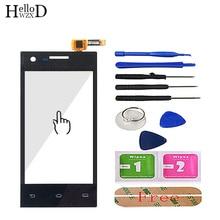 """4.0 """"โทรศัพท์มือถือหน้าจอสัมผัสหน้าจอสัมผัสสำหรับ Philips S309 S 309 Touch Screen Digitizer SENSOR Glass เลนส์แผง 3M กาว"""
