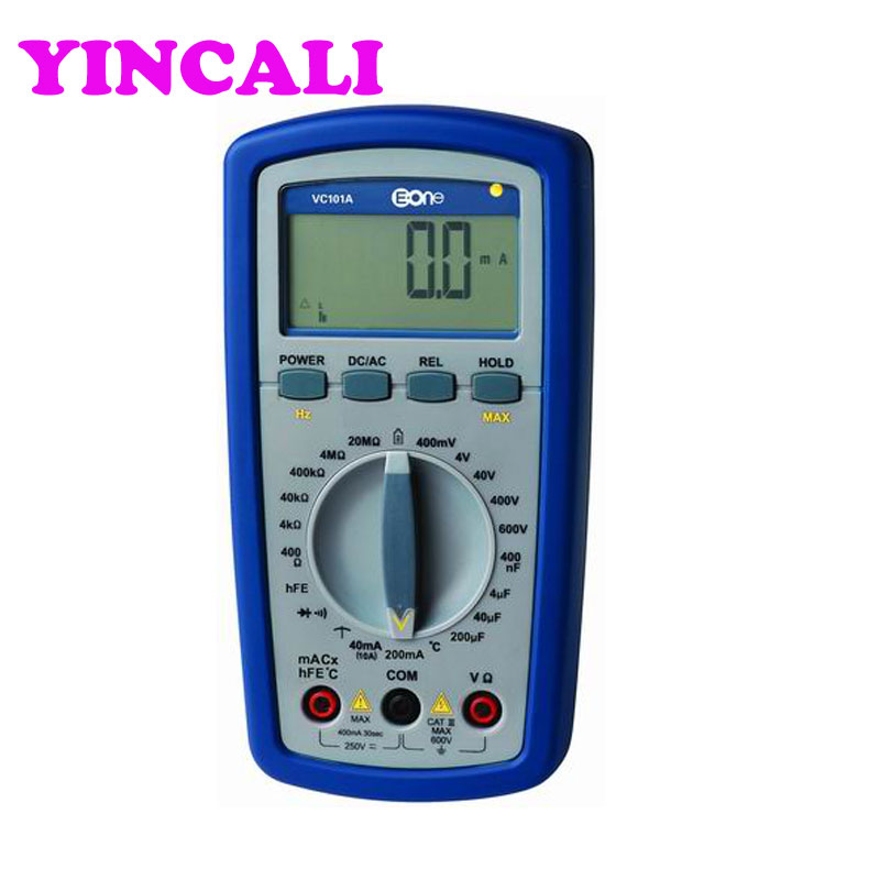 VC101A All Ranges Protection Self-Restoring Digital Multimeter 3 3/4 digits, Digital and Analog dual display 22 measuring ranges
