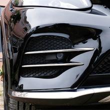 Для Mercedes Benz GLC класса X253 2017 2018 автомобиль-Стайлинг ABS Chrome решетка воздухозаборника полоски обрезать автомобильные аксессуары 4 шт.