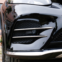For Mercedes Benz GLC Class X253 2017 2018 Car styling ABS Chrome Air intake grille Strips Trim Car Accessories 4Pcs