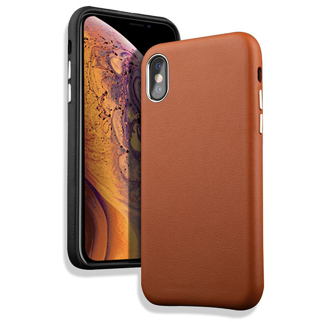 LANGSIDI Genuine Leather Anti-drop phone case for iPhone X XS MAX XR 9 7 8plus  6 6splus 5SE Luxury Slim protective back cover