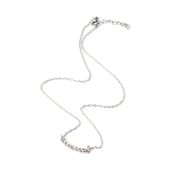 Wholesale New Jewelry Gold Color Cubic Zircon CZ Hoop Bunch Pendant High Quality Chain Necklace for Women N552