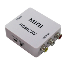 HDMI to AV/RCA CVBS Adapter 1080P Video Converter HDMI2AV Adapter Converter Box Support NTSC PAL Output HDMI TO AV Adapter цена и фото