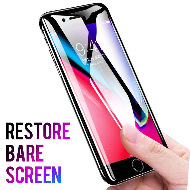 Image 3 - GVU 5D Full Cover Screen Protector For iPhone 6 6s 7 Tempered Glass For iPhone 8 7 6 6S X Glass Film-in Phone Screen Protectors from Cellphones & Telecommunications