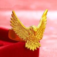 Европейская мода большой орел кольцо золотое покрытие животного дизайн властная мужчины палец кольцо новые личности Аксессуары