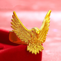 Grande de la manera europea águila anillo gold filled diseño animal domineering hombres accesorios anillo de dedo más nueva personalidad