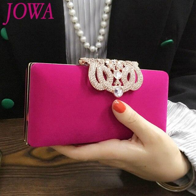 2017 New Design Women S Vintage Handbags Mini Evening Bags Wedding Party Bride Package Diamond Crown Clutch