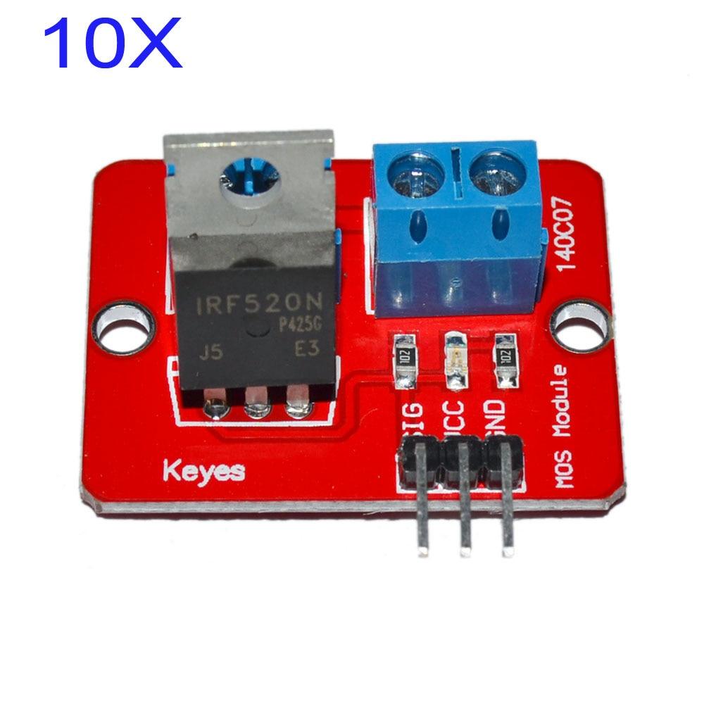 10PCS/lot IRF520 MOSFET Driver Module Sensor for Arduino  Raspberry pi