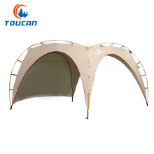 TU CHENG ultralarge ultralight aluminum poles 4-5 person use waterproof sun shelter camping tent large gazebo