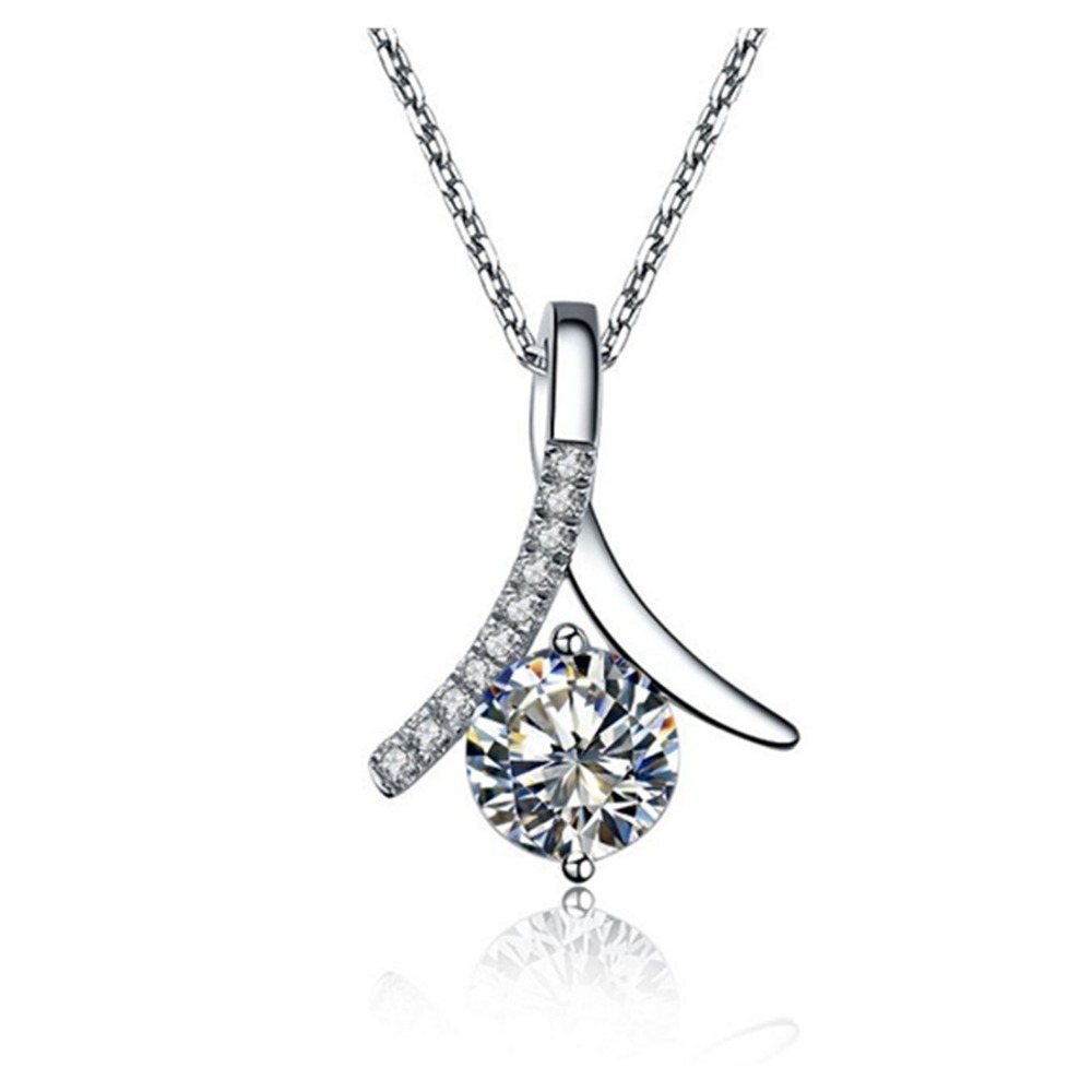 Free 925 necklace 18inches 1ct sona simulate diamond pendant sweater free 925 necklace 18inches 1ct sona simulate diamond pendant sweater necklace engagement sterling silver round white gold plated in pendants from jewelry aloadofball Choice Image