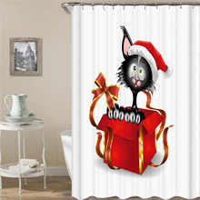 Merry Christmas Waterproof Shower Curtain Sets Polyester Fabric Curtain Cartoon Home Bathroom Curtain With 12 Hooks Polish Folk