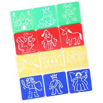 fairy tale stencilpp drawing stencils for kidsearly educational toyspainting templateart stencil125x125cm from reliable toy gel suppliers on george - Kids Drawing Stencils