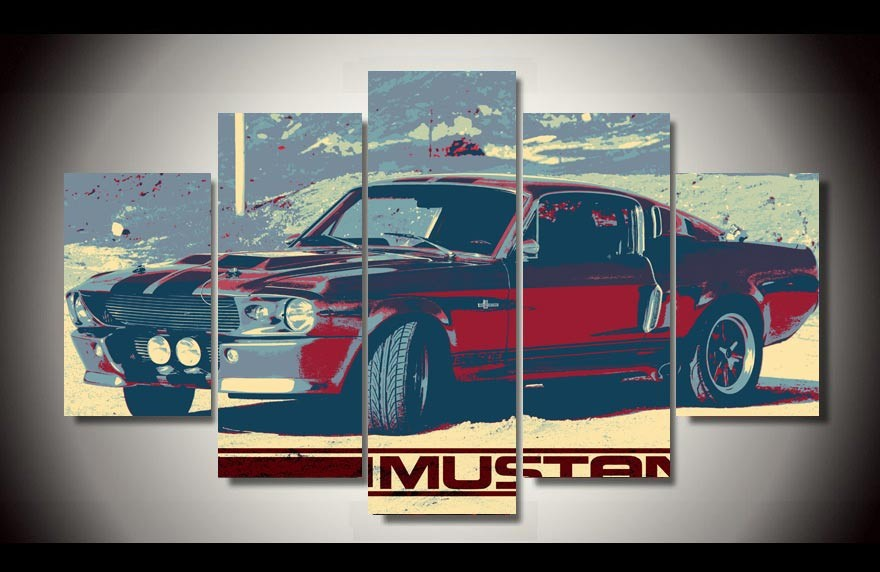 framed printed car 5 piece picture painting wall art living room decor print on canvas free