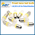 100 ШТ. #44 #47 Штык BA9s База Светодиодная Лампа 6.3 В Пинбол СВЕТОДИОДНЫЕ #47 AC/DC Пинбол пинбол светодиодные лампы
