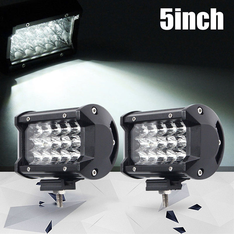 2 Pcs/Set 54W 5Inch Car LED Work Light Bar Spot Beam SUV Boat Driving Offroad ATV Lamp DXY88
