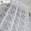 European Style Striped Jacquard Design Ready Made Sheer Curtain Drapes