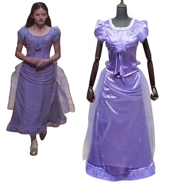 Cosplaydiy The Nutcracker And The Four Realms Clara Cosplay Costume Dress  Adult Halloween Women Purple Top Skirt Dress L320 b8e4059b4a7f