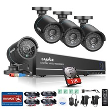 SANNCE 8CH CCTV System 1080P HDMI Output 4IN1 DVR 4pcs 720P CCTV Security Cameras with 1TB HDD IR Outdoor Surveillance Kit