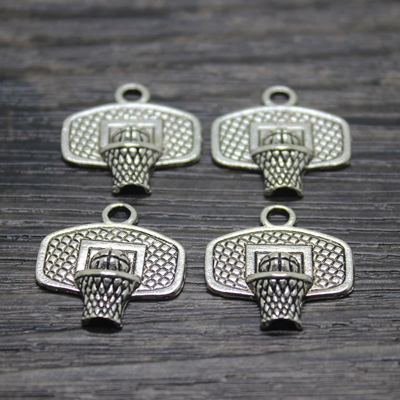 20pcs Tibetan silver backboard basketry basketball charms EF1676