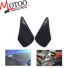 Motoo-Tank Pad Protector Sticker Decal Gas Knee Grip Tank Traction Pad Side 3M For YAMAHA R1 2004 2005 2006