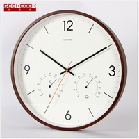 Geekcook Wall Clock Home Clock Elegant And Elegant 14 Inch Large Size Temperature And Humidity Multifunctional Wall Clock