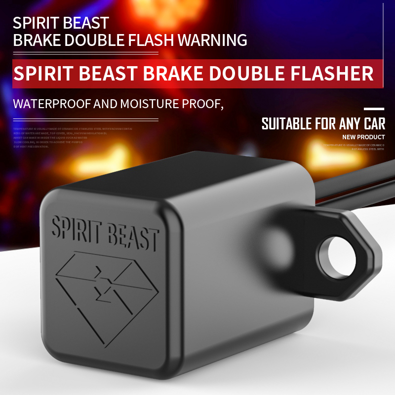 Spirit Beast Brake Flasher Motorcycle Accessories LED Turn Signal Emergency Light Danger Light Controller Moto Steering Priority