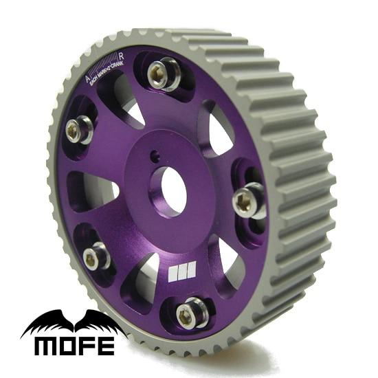 2PCS Pair Aluminum Alloy Adjustable Cam Gear for Toyota Supra 2JZ 2JZGTE 1JZGTE Purple цена