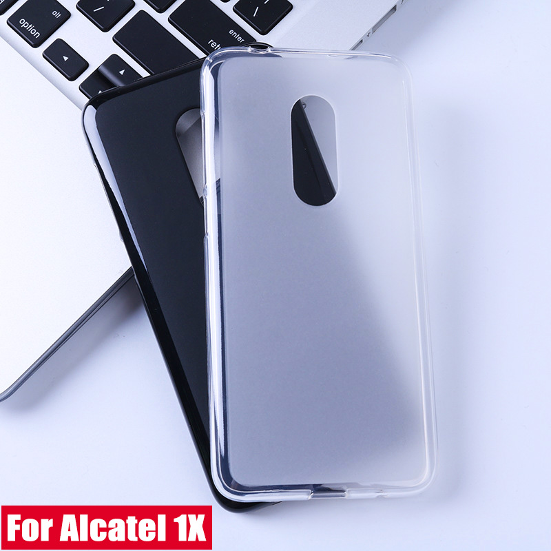 Litchi TPU Cases For Alcatel 1C 1X 3 3C 3V 3X 1 Case Black