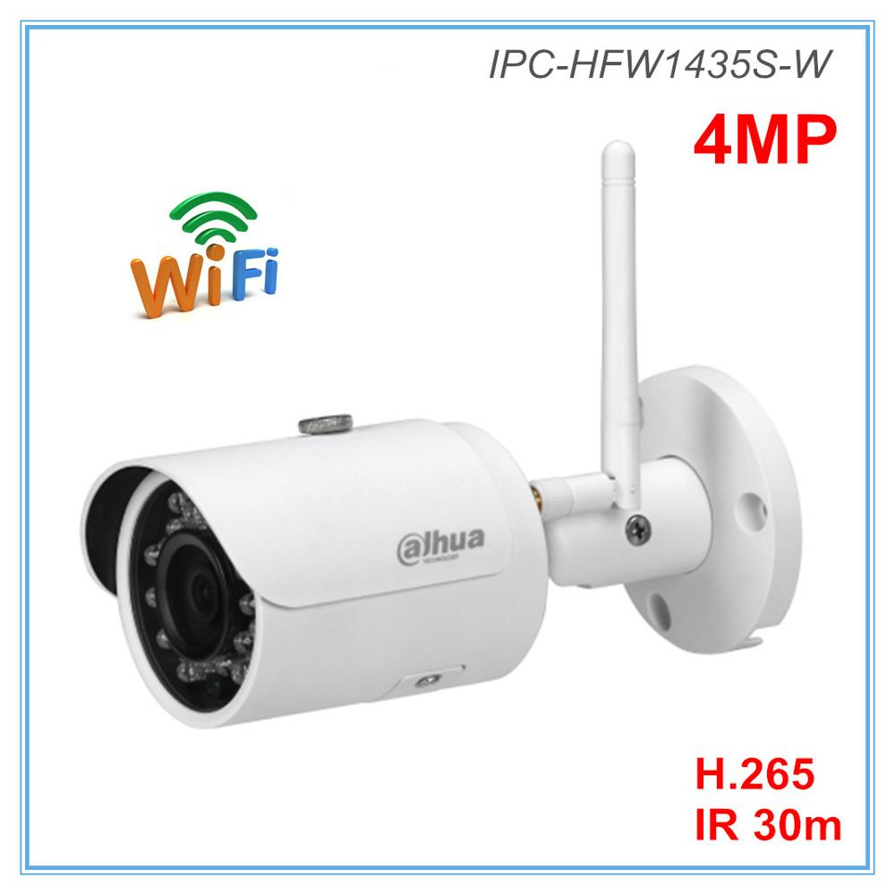 Dahua English Version 4MP Ip Camera Wifi Camera H.264 H.265 2.8mm 3.6mm Optional IR 30 Meters Wireless Camera IPC-HFW1435S-W