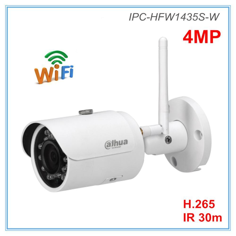 Dahua English Version 4MP Ip Camera Wifi Camera H.264 H.265 2.8mm 3.6mm Optional IR 30 Meters Wireless Camera IPC-HFW1435S-W