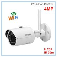 Dahua English version 4MP Ip Camera Wifi Camera H.264 H.265 2.8mm 3.6mm Optional IR 30 meters Wireless camera IPC HFW1435S W
