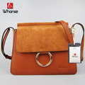 [WHORSE] Brand New Retro Chain Women Messenger Bags Genuine Leather Small Shoulder Bag Cowhide Crossbody Bag With Ring WA70750