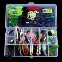 VISSEN 110 pieces of lure soft bait fishing gear fishing accessories fresh sea water suit