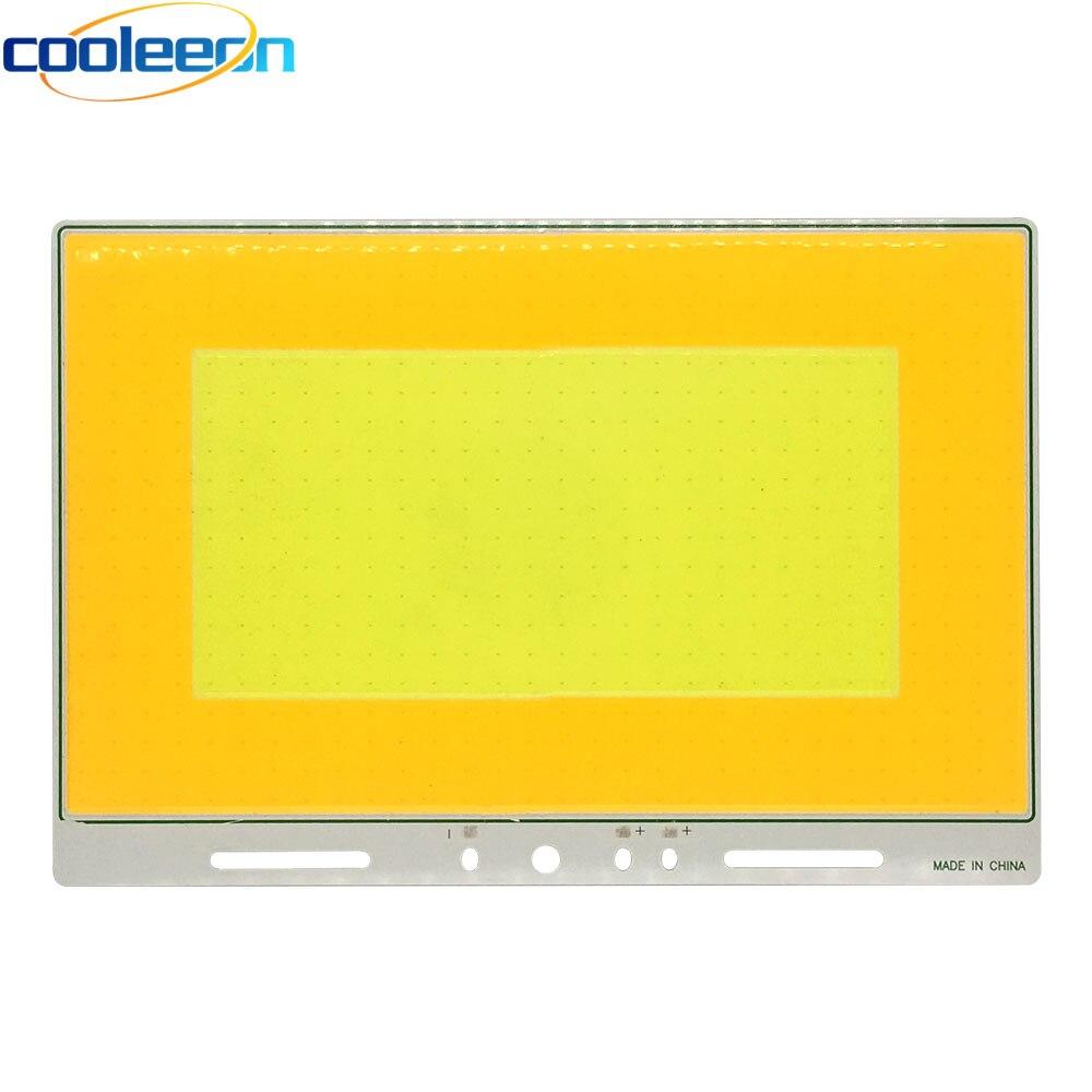 320x210mm Double couleur Super grand 12 V 200 W LED COB lampe pour voiture ampoules maison éclairage extérieur bricolage chaud blanc froid couleur COB conseil