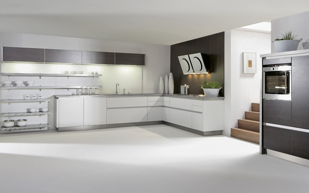 L-shape Lacquer  Kitchen Cabinet  Modern  Kitchen Furniture