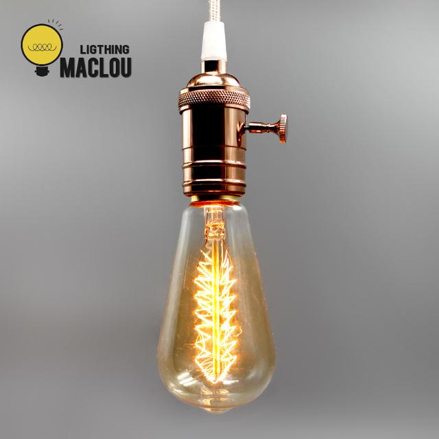 Bombilla de Edison E27 Retro lámpara ST64 G95 ampolla Vintage bombilla incandescente 220 v Luces De vacaciones 40 w lámpara de filamento Lampada decoración de casa