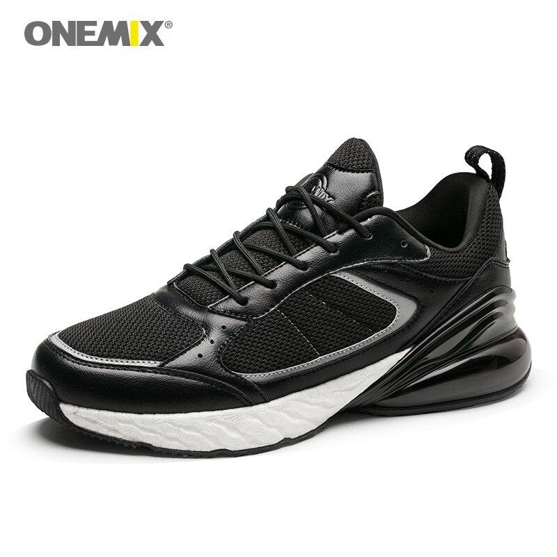Onemix baskets vintage pour hommes chaussures de sport en plein air classique noir blanc rétro chaussures de course cochon nubuck chaussures supérieures en ventes