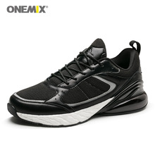 Onemix vintage sneakers for men outdoor athletic shoes classical black white retro running pig nubuck upper on sales