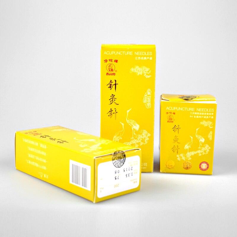 3 scatole * 200 pz/scatola Hwato Agopuntura Ago Riutilizzabile Ago massaggio di bellezza ago ago D'argento
