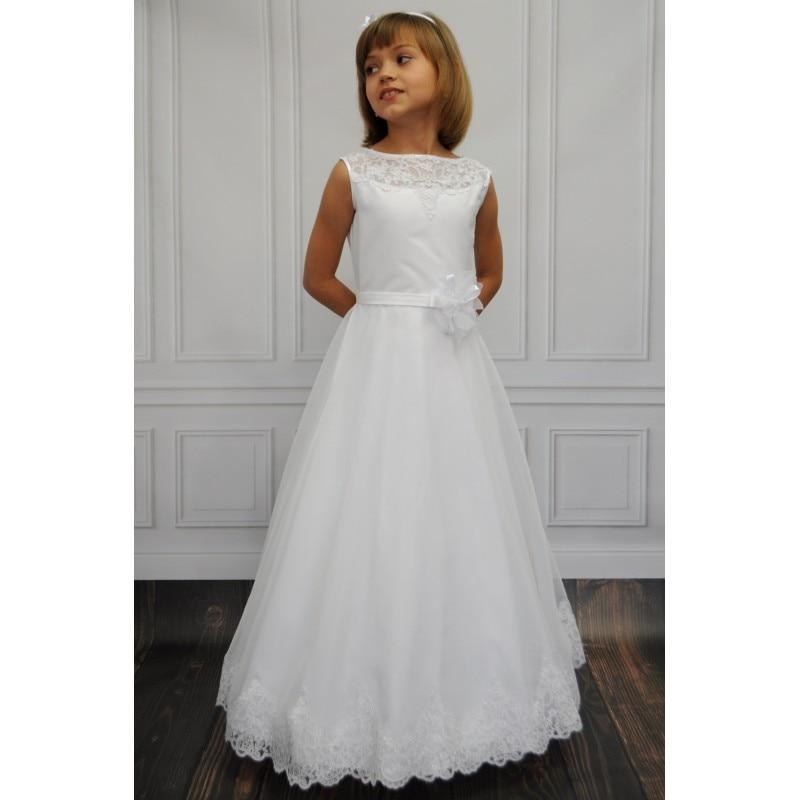 577489a0ea87d Vestidos De Comunion 2017 White / Ivory Floor Long Flower Girl Dresses For  Weddings Lace Tulle Girls Holy First Communion Dress